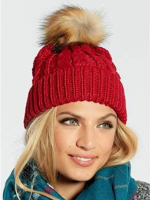 5698bbb13fa041 Red Pom Pom Hats For Women - ShopStyle UK