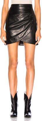 Givenchy Wrap Leather Mini Skirt
