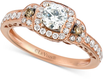 Le Vian® Bridal Diamond Engagement Ring (3/4 ct. t.w.) in 14k Rose Gold $7,435 thestylecure.com