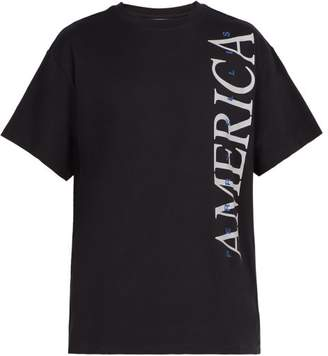 Perry Ellis America Print Cotton T Shirt - Mens - Black