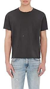 R 13 Men's Destroyed Pima Cotton T-Shirt - Black