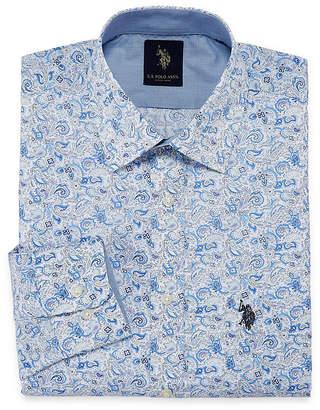 U.S. Polo Assn. USPA Uspa Dress Shirt Long Sleeve Paisley Dress Shirt - Slim