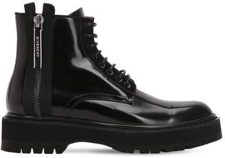 Givenchy Camden Leather Utility Boots With Zip