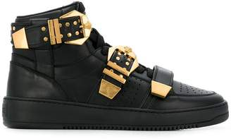 Versace buckle detail sneakers