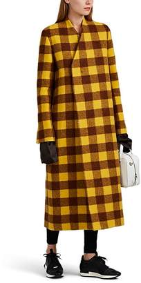 Rick Owens Women's Museum Checked Alpaca-Wool Coat