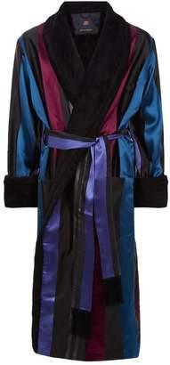 Daniel Hanson Stripe Silk Robe