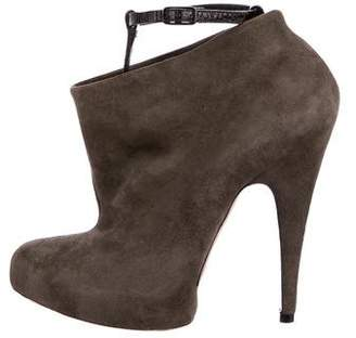 Givenchy Suede Platform Ankle Boots