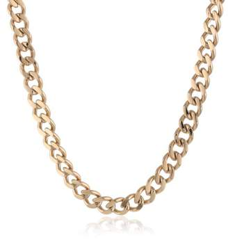 Men's -Tone Stainless Steel Curb Chain Necklace