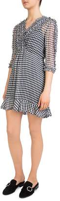 The Kooples Vichy Gingham Ruffle-Trim Dress