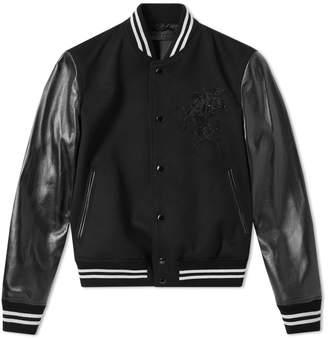 Alexander McQueen Wool Felt Pegasus Varsity Jacket