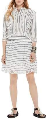 Scotch & Soda Eyelet-Trim Striped Dress