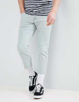 Asos DESIGN Slim Jeans In Bleached Down Wash
