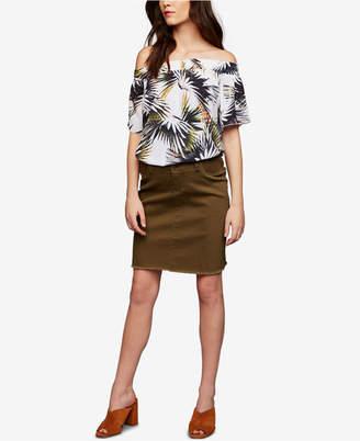 Ripe Maternity Frayed Pencil Skirt