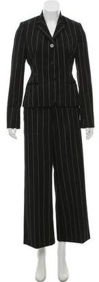 Ralph Lauren Purple Label Wool Pinstripe Pantsuit