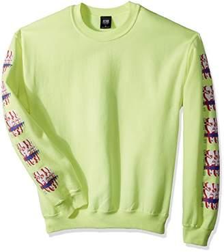 Obey Men's Can You Feel It Crew Neck Sweatshirt