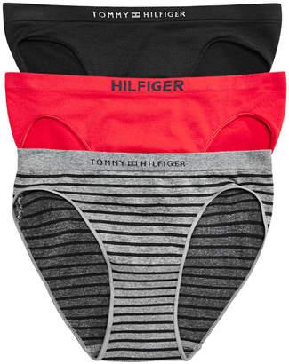 Tommy Hilfiger Women's 3-Pk. Seamless Logo Bikini R91T007