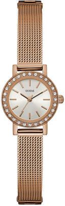 GUESS Women's Rose Gold-Tone Stainless Steel Mesh Bracelet Watch 22mm U0954L3