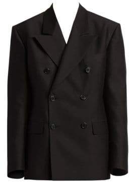Maison Margiela Double Breasted Wool& Silk Blazer