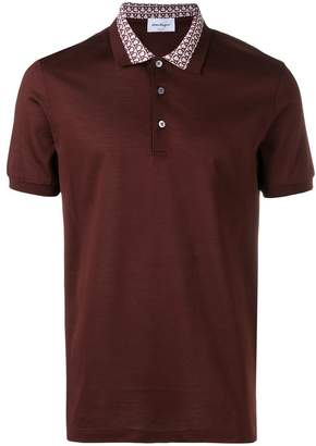 Salvatore Ferragamo Gancio collar polo shirt
