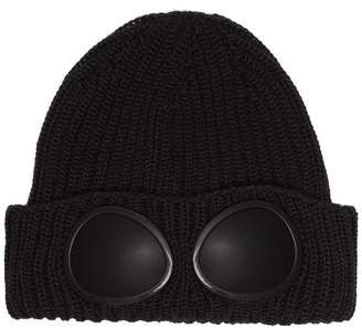 C.P. Company black wool hat sunglasses detail