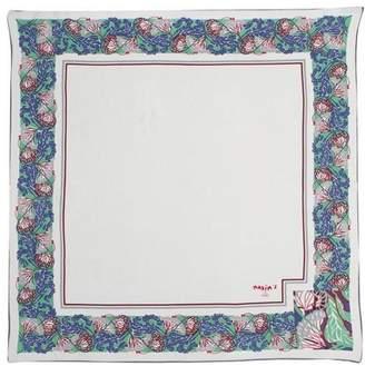 """Pariscarves Solid Color Silk Crepe de Chine Square """"Maxim's de Paris"""""""