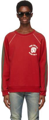 Gucci Red Spiritismo Raglan Sweatshirt