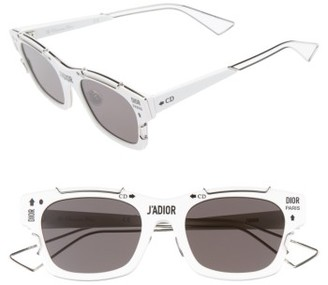 Women's Christian Dior J'Adior 51Mm Retro Sunglasses - Black/ Palladium $710 thestylecure.com