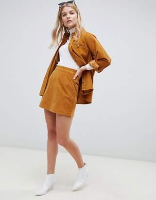Asos Design DESIGN two-piece cord skirt in tan