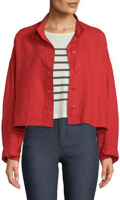 The Great The Captain Cropped Button-Front Jacket