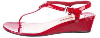 Prada Sport Patent leather Ankle Strap Wedges