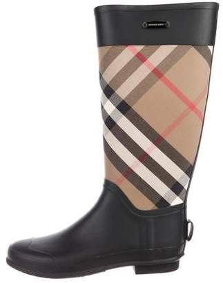Burberry House Check Rainboots