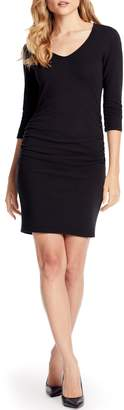Michael Stars Pebble Knit Ruched Body-Con Dress