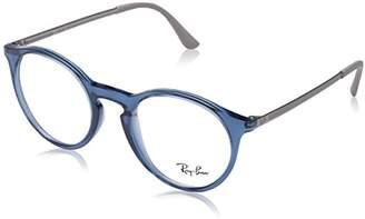 Ray-Ban Men's 0RX 7132 5721 Optical Frames, (Transparente Blue)