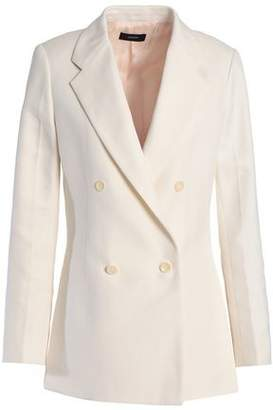 Joseph Double-Breasted Ramie And Cotton-Blend Blazer