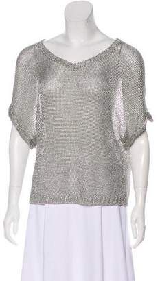 Vince Metallic Knit Top