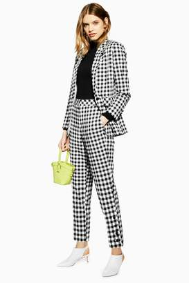 Topshop TALL Gingham Tapered Trousers