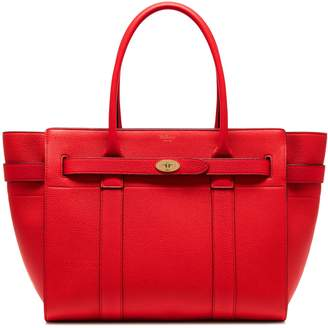 Mulberry Zipped Bayswater Fiery Red Small Classic Grain