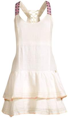 OndadeMar Linen Tiered-Hem Dress