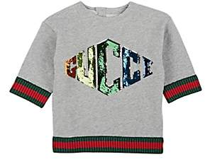 Gucci Kids' Sequin-Embellished Cotton French Terry Sweatshirt - Gray