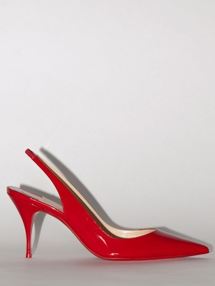 Christian Louboutin 80MM CLARE PATENT LEATHER PUMPS