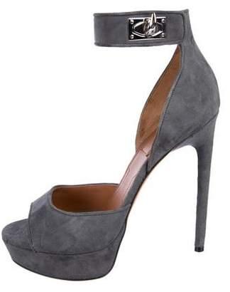 Givenchy Suede Platform Sandals