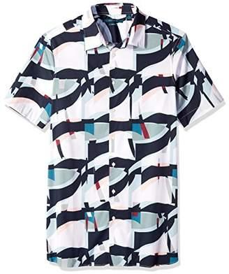 Perry Ellis Men's Big Tall Geo Print Stretch Shirt