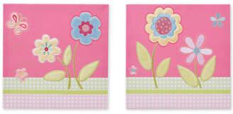 Jla Home Mi Zone Kids Spring Bloom Embroidered Canvas 2-pc. Set