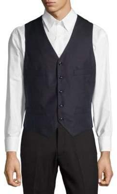 Giorgio Armani Wool Silk Button Up Vest