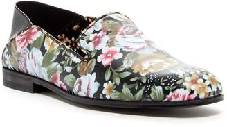 Alexander McQueen Floral Leather Slip-On Flat