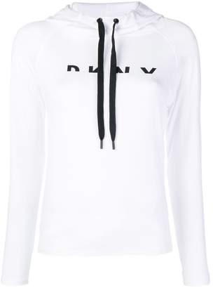 DKNY front logo hoodie