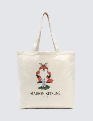MAISON KITSUNÉ Tote Bag Fox Pixel