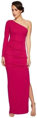 Nicole Miller One Shoulder Gown Women's Dress