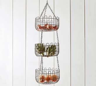 Pottery Barn Farmhouse Wire Hanging Fruit Basket