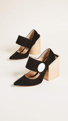 Jacquemus Large Button Pumps